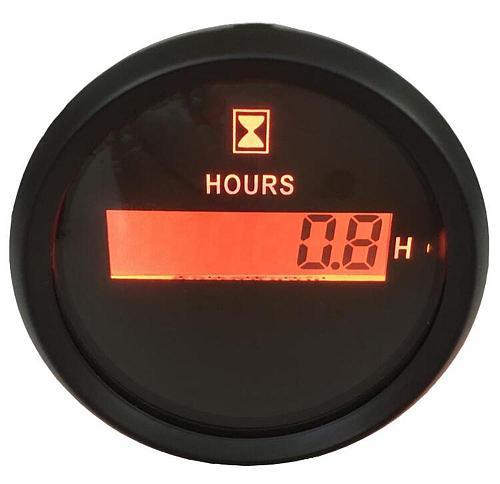 1pc 52mm Digital Hour Meters Waterproof Hourmeters LCD Display Clock Gauges Red Backlight Fit for Auto Yacht Boat Motor Home