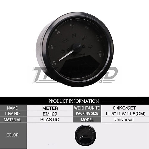 8-18V Universal LCD Digital Tachometer Speedometer Odometer Motorcycle Motorbike 12000RPM For 2,4 Cylinders Maximum display199km