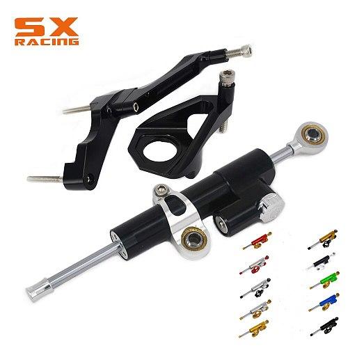 Steering Damper Stabilizer    Bracket For SUZUKI GSXR600 GSX600R GSXR750 GSX750R GSR750 GS750R 2001-2005 01 02 03 04 05