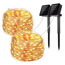 LED Outdoor Solar Lamp String Lights 100/200 LEDs Fairy Holiday Christmas Party Garland Solar Garden Waterproof 10m 20m Decor
