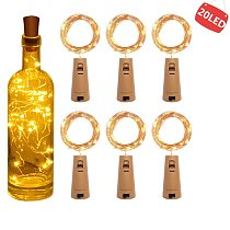 String led Wine Bottle with Cork 20 LED Bottle Lights Battery Cork  for Party Wedding Christmas Halloween Bar Decor Warm White