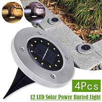 4Pcs LED Solar Garden Light Solar Power Energy Ground Lawn 8/10/12LED With Sensitive Light Sensor Waterproof Outdoor Yard Lights