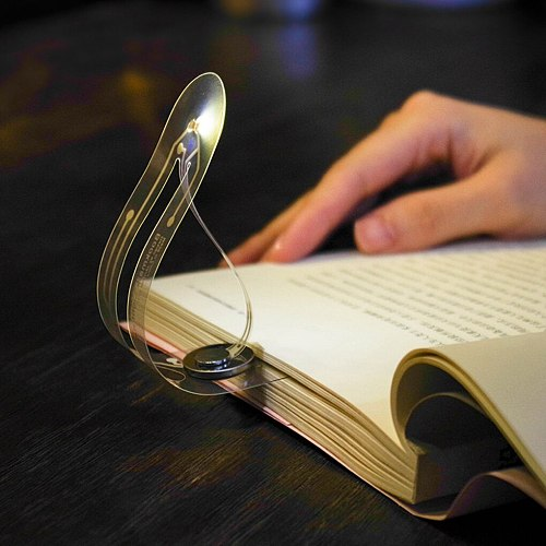 Mini Bookmark with Lamp Led Light for Reading Book Bookmark Reading Lamp Creative Portable Small Night Light  Lamp Gift