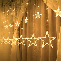Christmas Fairy Lights Festoon Led String Lights Star Garland on Window Curtain Indoor Tree Decoration Halloween Wedding Light