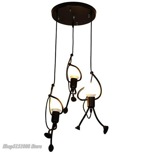 Creative Little Man Pendant Lights Climbing Pendant Lamp for Children Room Hanging Lamp Metal Cord Pendant Lamps Art Decoration