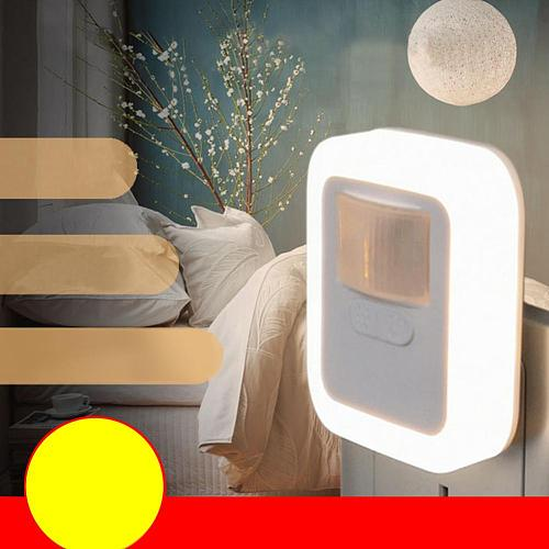 LED Night Lamp Sound Control Sensor Smart Home Night Lamp Auto on/Off Dimmable Home Stair Closet Emergency Wall Lights
