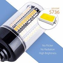 E14 Corn Bulb E27 LED Lamps 220V B22 High Power 28 40 72 108 132 156 189leds Lights SMD 5736 Lampada Led 110V No Flicker 85-265V
