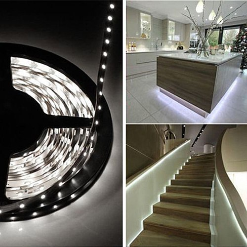 High Intensity 5M 16ft 3528 SMD Non-Waterproof 600 LEDs Flexible Light LED Sticky Strip 12V With Long life span 50,000+ hours