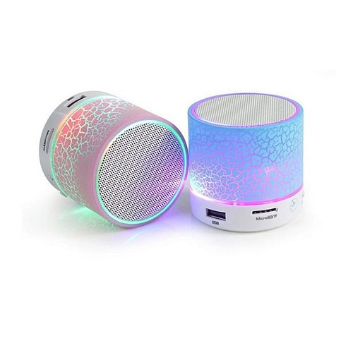 Wireless Mini LED Bluetooth Speakers Music Audio TF USB Stereo Subwoofer with Mic