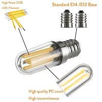 Mini E14 E12 LED Fridge Freezer Filament Light COB Dimmable Bulbs 1W 2W 4W Lamp Warm / Cold White Lamps Lighting
