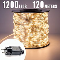 30m 50m 100m LED String Lights street fairy Light Waterproof for Outdoor Christmas Fairy Lights Holiday Wedding Decoration