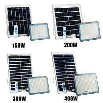 150/200/300/400W Solar Flood Light Outdoor Waterproof Wall Lamp Led Solar Lamps Multi-function Garden Lighting W/ Solar panel RC