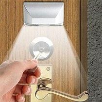 PIR Infrared IR Wireless Auto Sensor Motion Detector Keyhole 4 LED Light lamp Battery cabinet closet light blubs