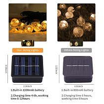 8-mode Solar string lights 50/100 LEDS Crystal ball 7M/12M fairy lights solar Outdoor waterproof solar garden kerst decoration
