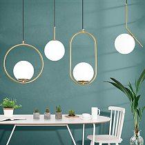 Nordic modern pendant light minimalist living room dining bar kitchen lamp bedroom glass ball pendant lamp small wall lamp