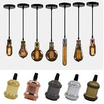 Modern Aluminum Pendant Lights E27 Lamp Holder 110V 220V LED Lights Incandescent Vintage Retro Edison Bulb Decor Hanging Lamp