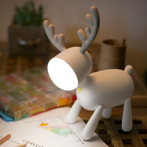 Student Nightlight Usb Led Book Light Reading Lamp For Child Booklight Cartoons Desk Reading Lamp Lovely Elk