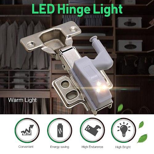 Include Battery LED Cabinet Hinge Night Light Sensor Light For Kitchen Living Room Bedroom Wardrobe Closet Cupboard Door Lamp