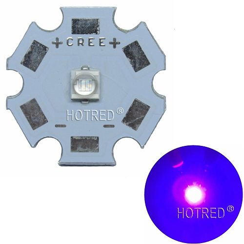 10PCS 3W 3535 High Power LED UV Light Chip 365nm 385nm 395nm 420nm Emitter Diode Ultra Violet DIY With 8/12/14/16/20mm pcb
