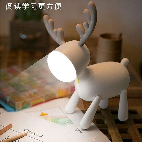 Student Nightlight Usb Led Book Light Reading Lamp For Child Booklight Cartoons Desk Reading Lamp Lovely Elk