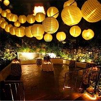 BEIAIDI Waterproof 20/30pc Lantern Solar String Light Globe Ball Christmas Party Fairy String Light Outdoor Patio Garden Garland