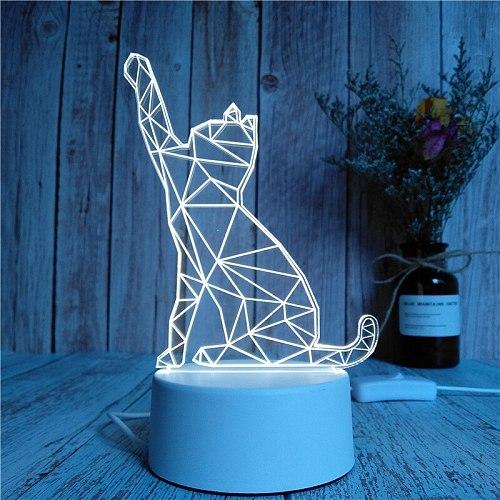 Novelty Light 3D Cartoon Lighting Kids Children Bedroom Lamp Soft Lighting Birthday Gifts LED Lights Night Lamp 2020 Hot Sale