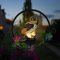 1pcs Solar Lamp Owl Hanging Lamp Powered Pathway Lamp Hanging Lamp Waterproof Lights Outdoor Lawn Yard Home Garden Night Light
