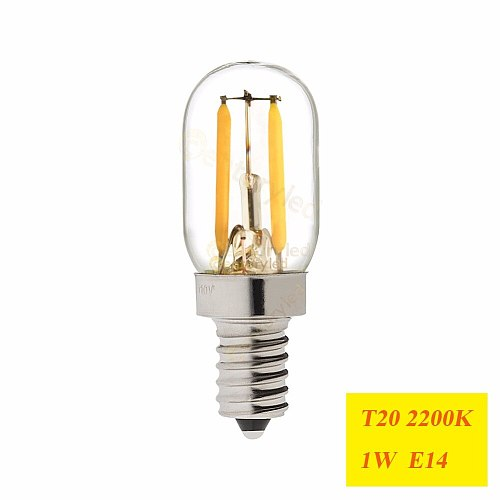 T20 Refrigerator LED Filament Bulb E12 E14 Fridge Light Bulbs 220V 110V COB lamparas For Chandelier Retro Vintage Lamps,Dimmable