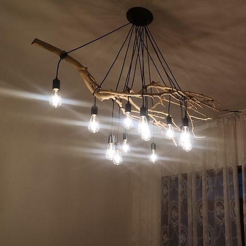 Retro Pendant Lamp DIY Multiple Lamp Base E27 Black Cable 0.75mm Industrial Hanging Lamps Cafe Bar Spider Pendant Lights