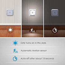 1pcs Infrared PIR Motion Sensor 6 LED Night Light Wireless Detector Light Wall Lamp Light Auto On/Off Closet Battery Power