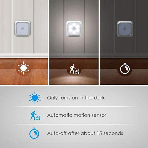 1pcs Infrared PIR Motion Sensor 6 LED Night Light Wireless Detector Light Wall Lamp Light Auto On/Off Closet Battery Power