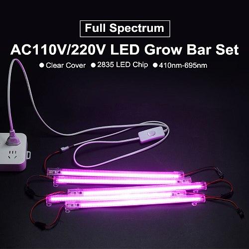 LED Grow Light 220V 110V Full Spectrum LED Lamp for Plants High Luminous Efficiency Phytolamp for Seedlings Greenhouse Grow Tent