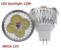 1pcs/lot high power lighting MR16/GU5.3 12V/110V/220V  12W  Dimmable led spotlight lamp bulb warm/pure/cool white LED light