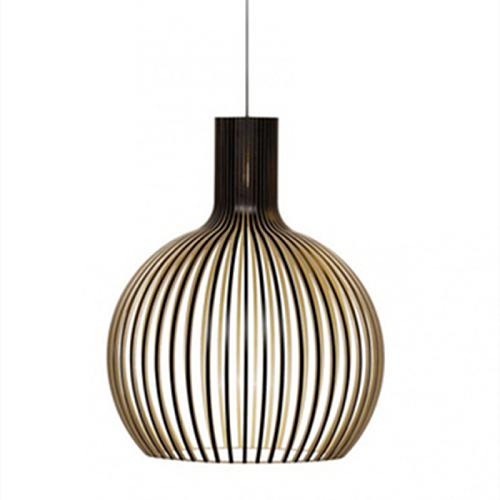 Modern Nordic Black Wood Birdcage Pendant lights Designer E27 bulb Sam bamboo weaving wooden Pendant lamps for Living Room Foyer