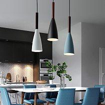 E27 Pendant Lights LED Chandeliers Nordic Hanging Lamp Minimalist Pendant Light for Kitchen Dining Room Lighting Luminaire Light