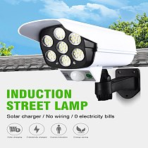 1PC 77 LED Simulation Camera Solar Powered Light Street Spotlight Solar Lamp Outdoor Garden Security Night Light Wall Lamp