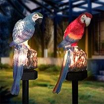 Solar Parrot Inserting Ground Landscape Light Resin Crafts Garden Light Outdoor Garden Path Lawn Solar light Солнечный свет