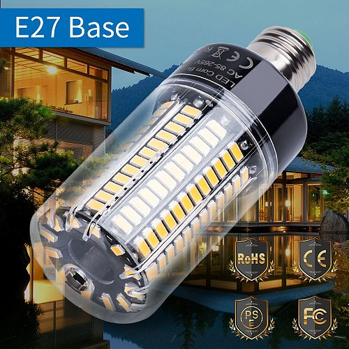 E27 LED Corn Bulb Light 220V LED Lamp Bulb E14 110V 5736 AC85-265V Led Energy saving lights 3.5W 5W 7W 9W 12W 15W 20W No Flicker