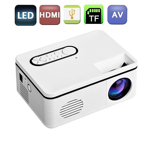 Mini Portable Projector LED Projector Supports 1080P HD Compatible With Multiple Devices Support Multi-Languauge