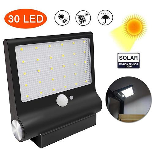 Outdoor Solar Motion Sensor Magnetic Waterproof LED Lamp Garden Porch Wall Light