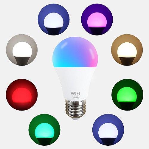 15W WiFi Smart Light Bulb RGB Magic Lamp Dimmable LED E27 E14 WiFi Bulbs Compatible Amazon Alexa Google Home Cloud Intelligence