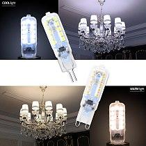 6PCS Corn Bulb G9 LED Bulb 3W 5W Bombilla G4 LED 220V Lamp 2835 Lampada g9 LED Dimmable Light Replace Halogen Lamp Candle Light