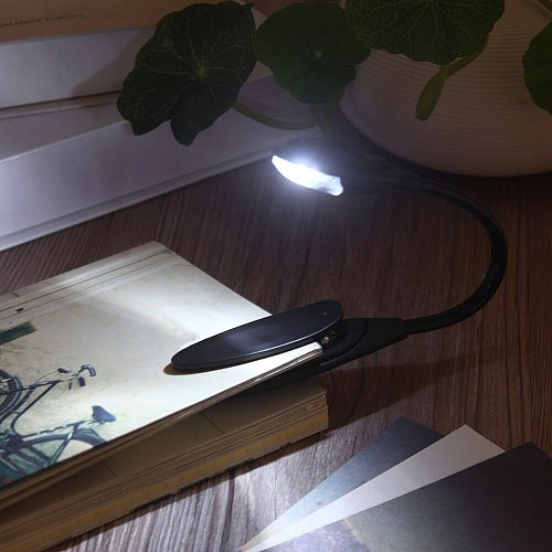 2019 Mini Flexible Clip-On Bright Book Light Laptop White LED Book Reading Light Lamp Compact Portable Student Dormitory Lights