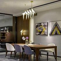 Nordic Gold Bird Cage pendant light Living room Bedroom origami bird light Kitchen Hanging lamp Dining room Paper House Fixtures