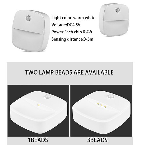 LED Under Cabinet Light PIR Motion Sensor Wardrobe Lights Auto ON/OFF Rechargeable Night Lamp For Cupboard Closet Kitchen Stairs
