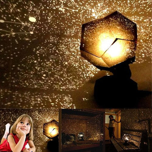 Romantic Planetarium Star Celestial Projector Light Lamp For Room Home Decor no USB Lamp Starry Sky Projection Lights Bedroom