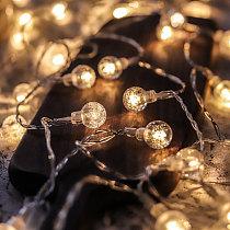 Led String Lights Fairy Gypsophila Bubble Ball Lamp Holiday Lighting Garland Battery USB Indoor For Christmas Wedding Decoration