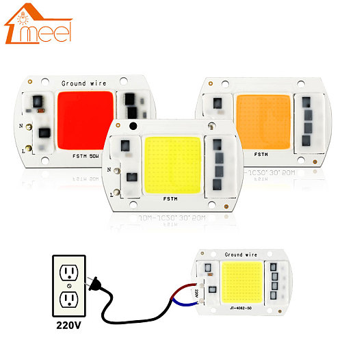 10W 20W 30W 50W COB LED Lamp Chip 220V 240V LED COB Bulb Lamp  IP65 Smart IC Driver Cold/ Warm White LED Spotlight Floodlight