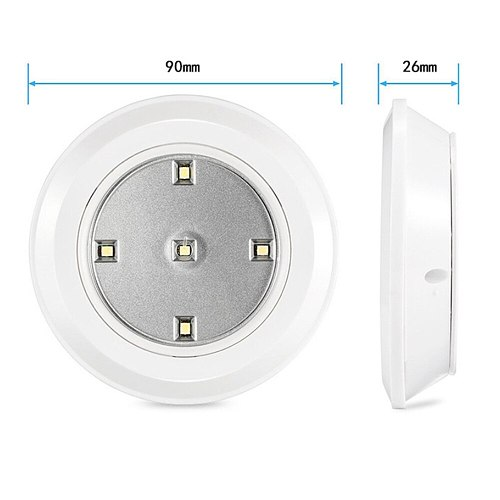 LED Dimmable  Under Cabinet night Light Battery Operated Puck Lighting Closets Lights with Remote Control for Wardrobe kitchen