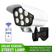 1PC Outdoor Garden Security Night Light Wall Lamp 77 LED Simulation Camera Solar Powered Light Street Spotlight Solar Lamp